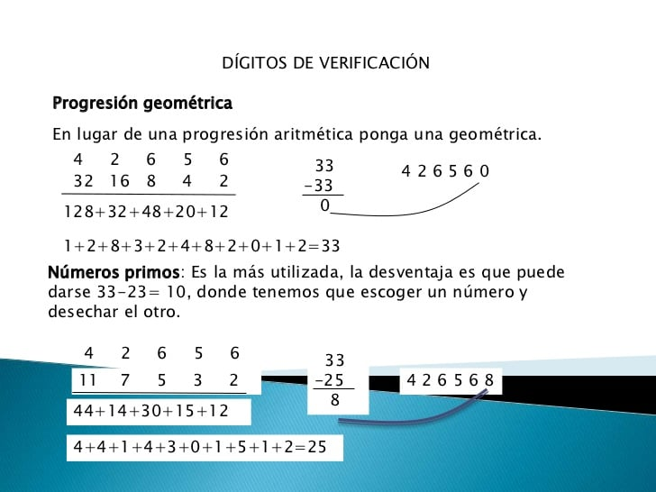 DÍGITO DE VERIFICACIÓN