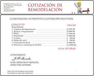 FORMATO DE COTIZACIÓN